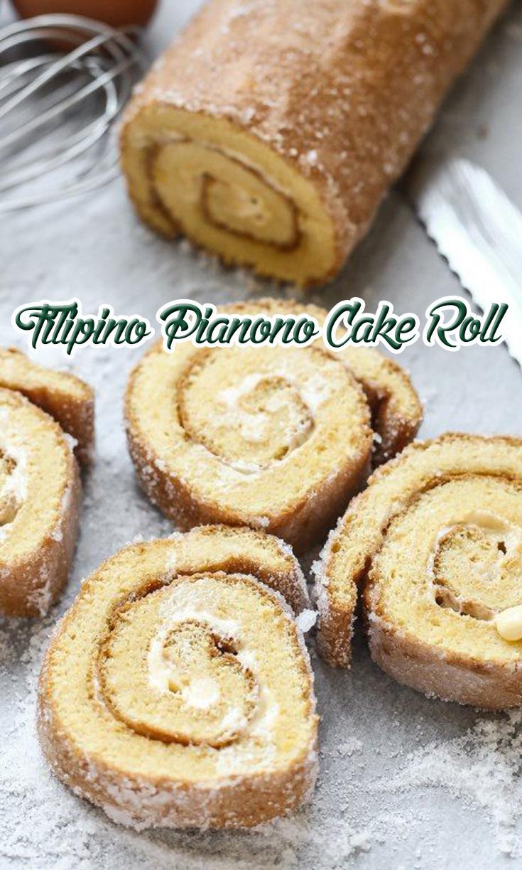 Filipino Pianono Cake Roll