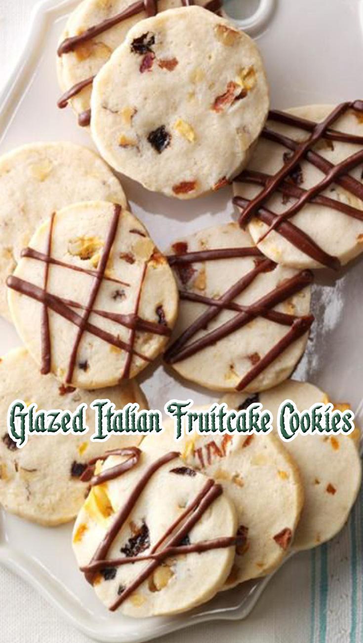 Glazed Italian Fruitcake Cookies