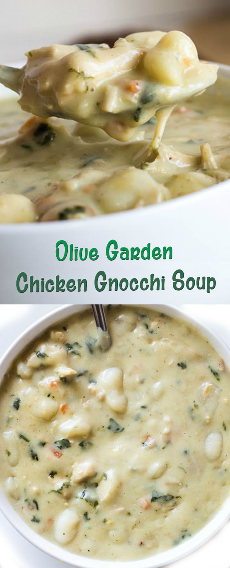 problems with this recipe click here - Olive Garden Gnocchi Soup