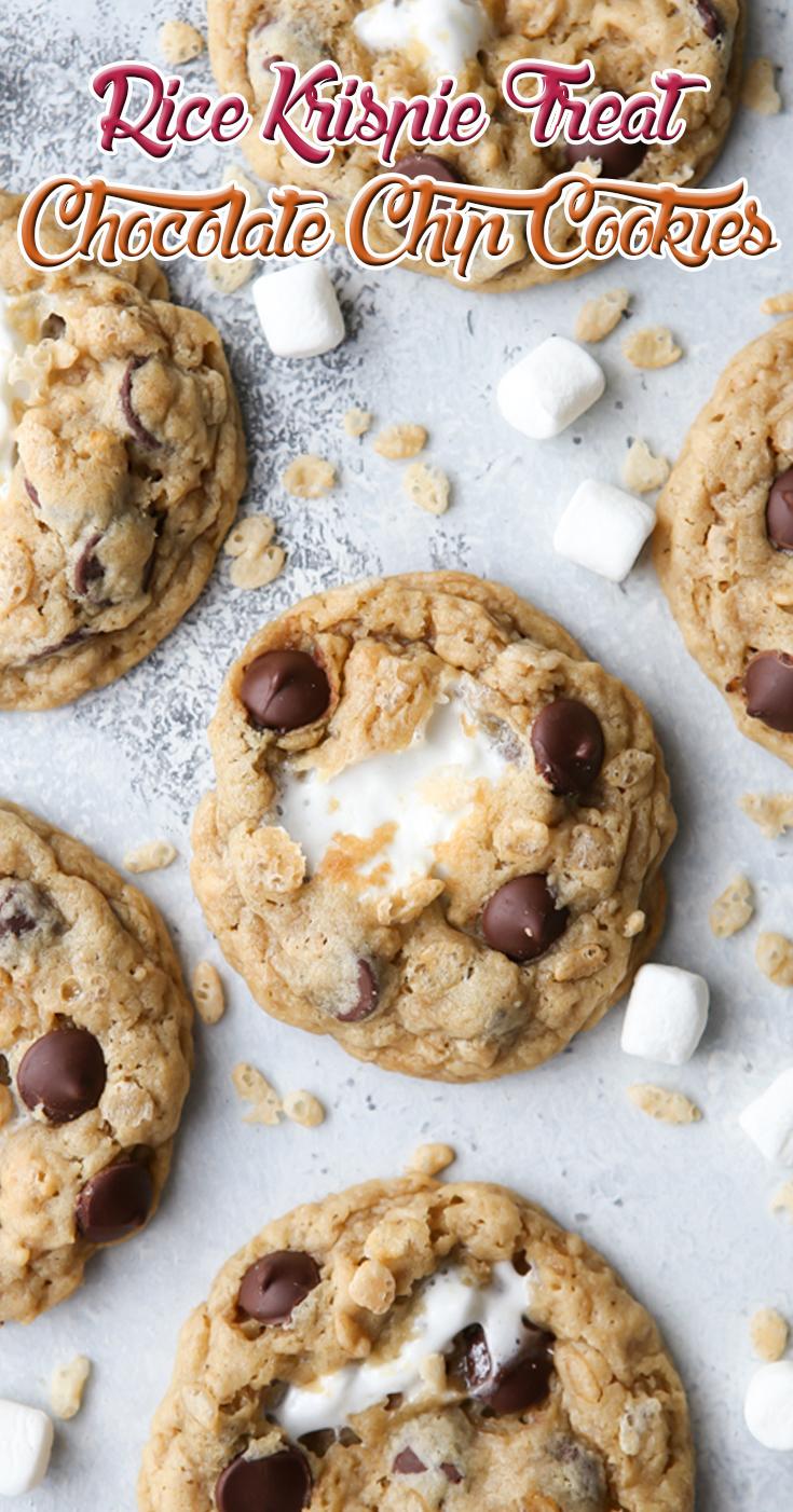 Rice Krispie Treat Chocolate Chip Cookies