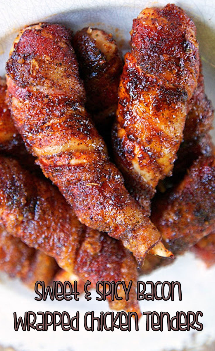Sweet and Spicy Bacon Wrapped Chicken Tenders | Zapatillas