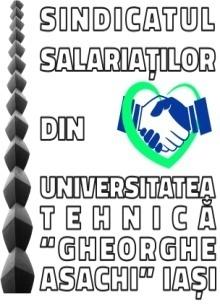 """Sindicatul Salariatilor din Universitatea Tehnica """"Gheorghe Asachi"""" din Iasi  logo"""