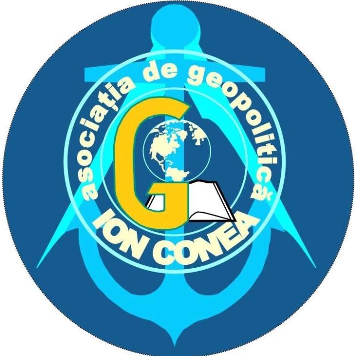 "Asociația de geopolitică ""Ion Conea"" logo"
