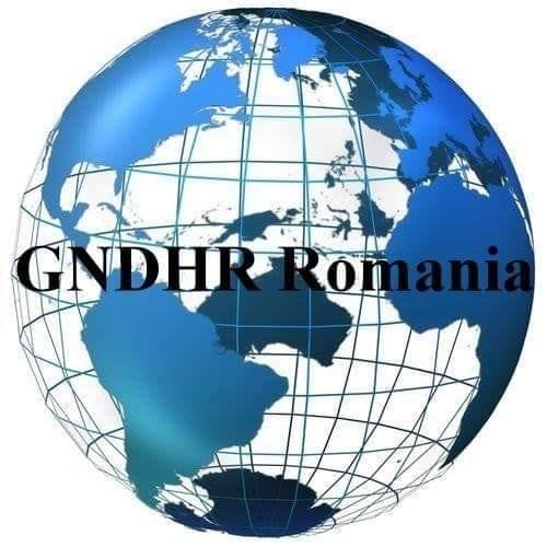 """Asociația Global Network for Democracy and Human Rights  """"Rețeaua Globală pentru Democrație și Drepturile Omului"""" logo"""
