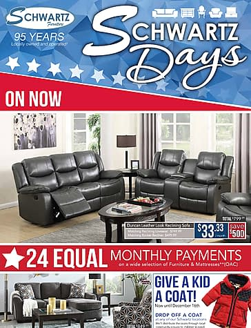 Schwartz Furniture   Schwartz Days (Nov. 1   21, 2017) | Reebee