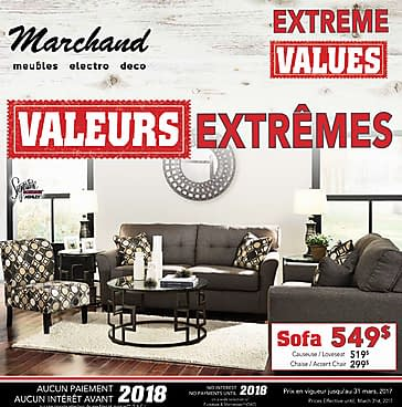 Meubles marchand extreme values mar 1 31 2017 reebee