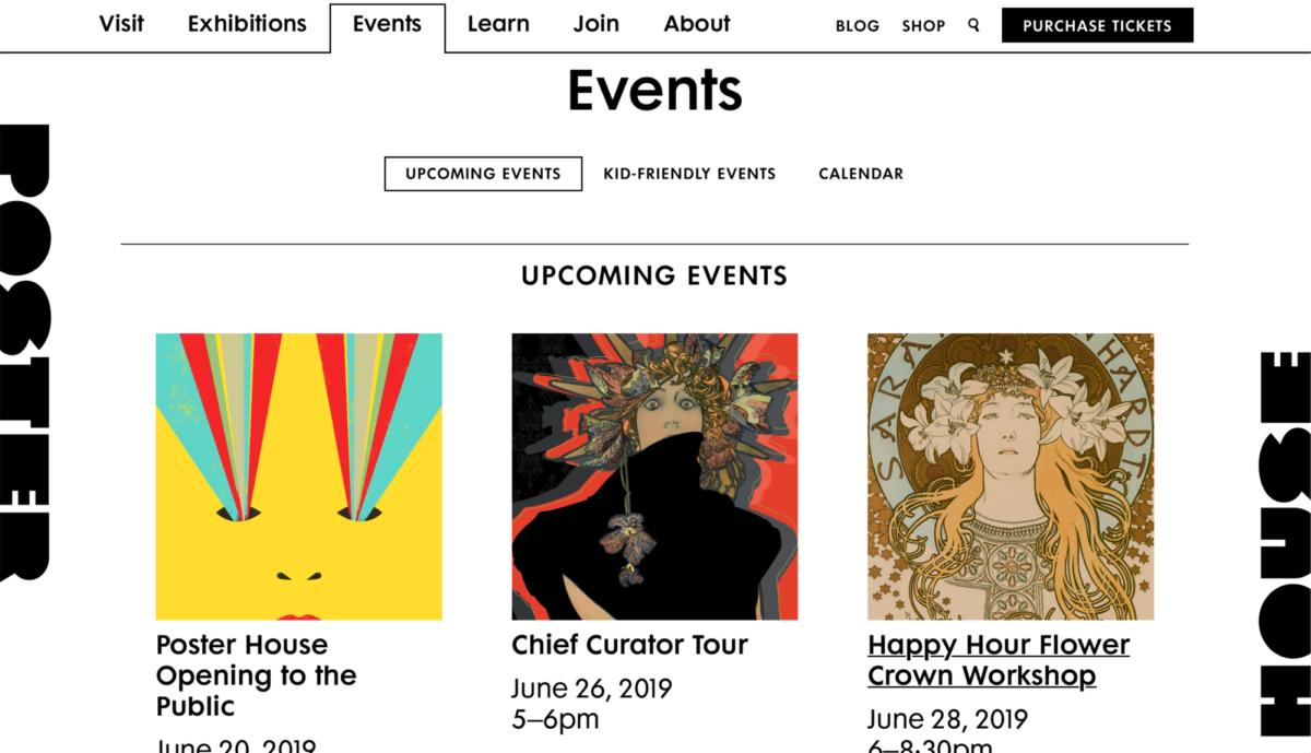 Ph website desktop events
