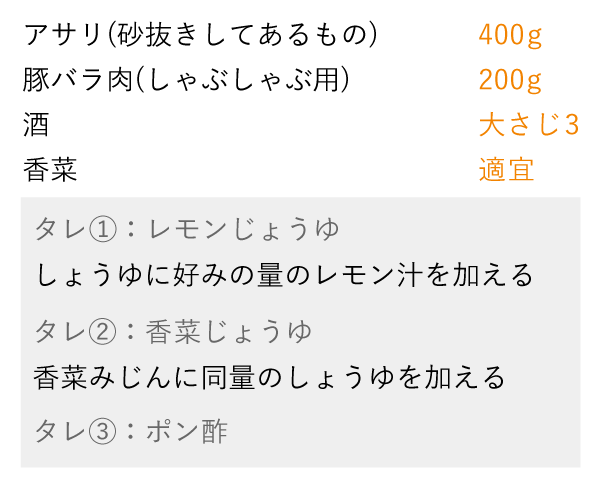 準備をするもの(4)