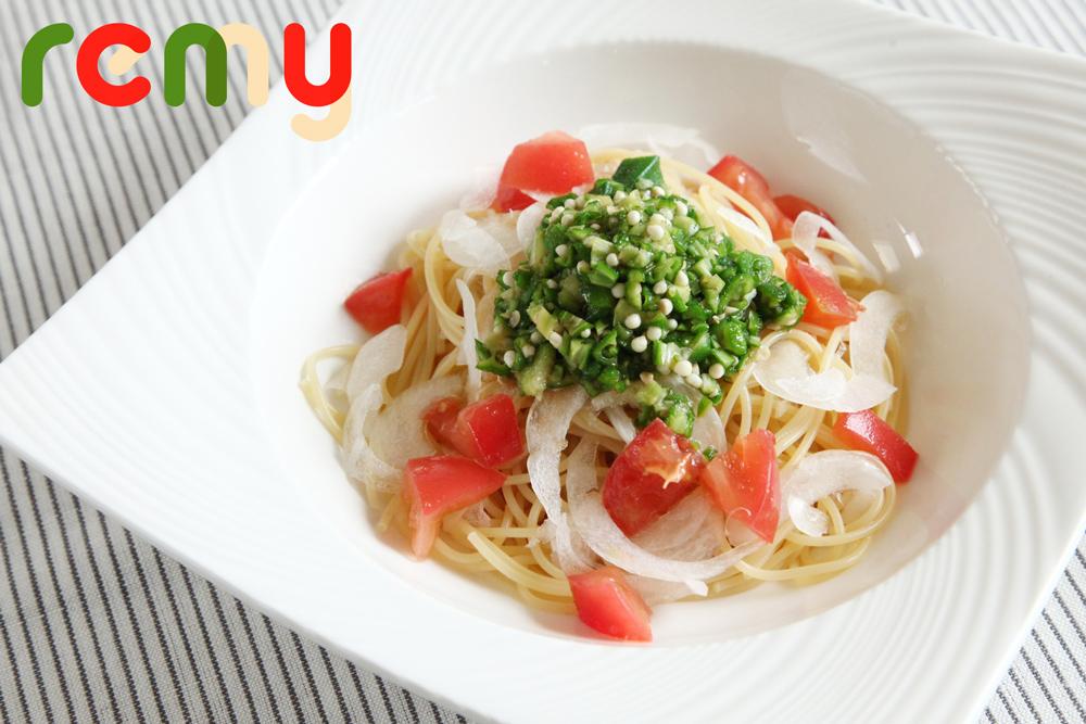 サラダ感覚「オクラとトマトの冷製パスタ」by
