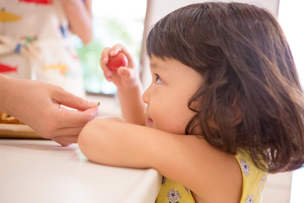 子どもが好きな味を利用する。