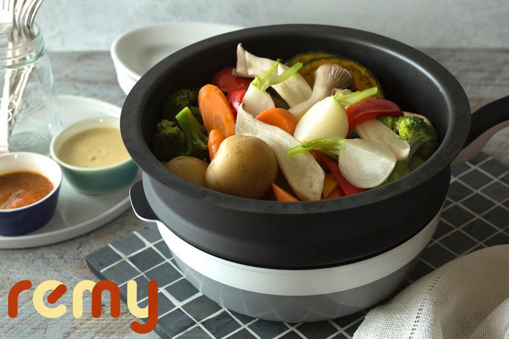 食卓彩る「蒸し野菜と2種のディップ」by
