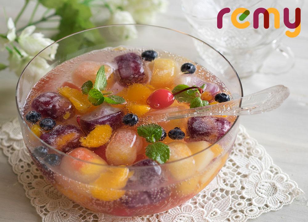 ジュースの氷で「薄まらないフルーツポンチ」by