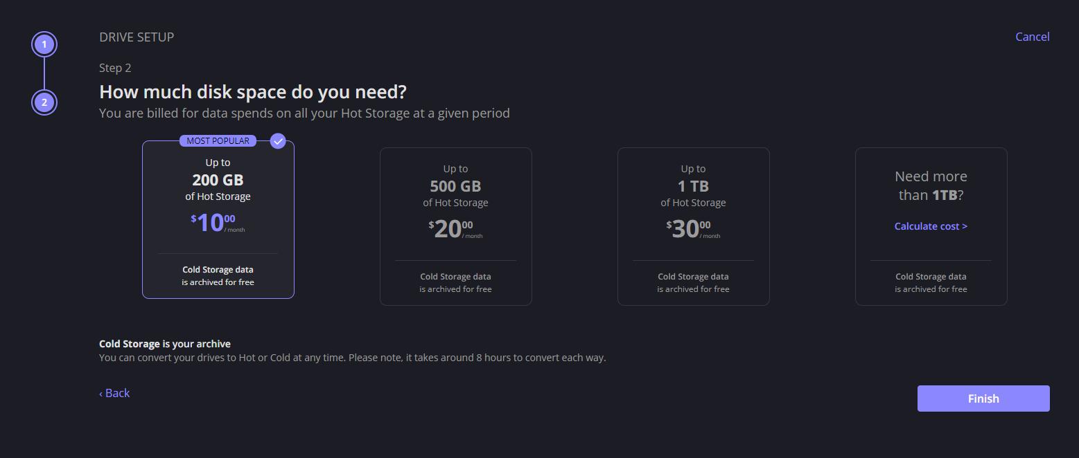 Choosing cloud storage tier