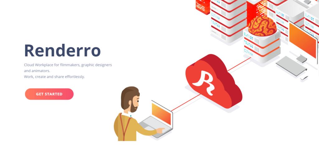 Renderro Cloud workspace