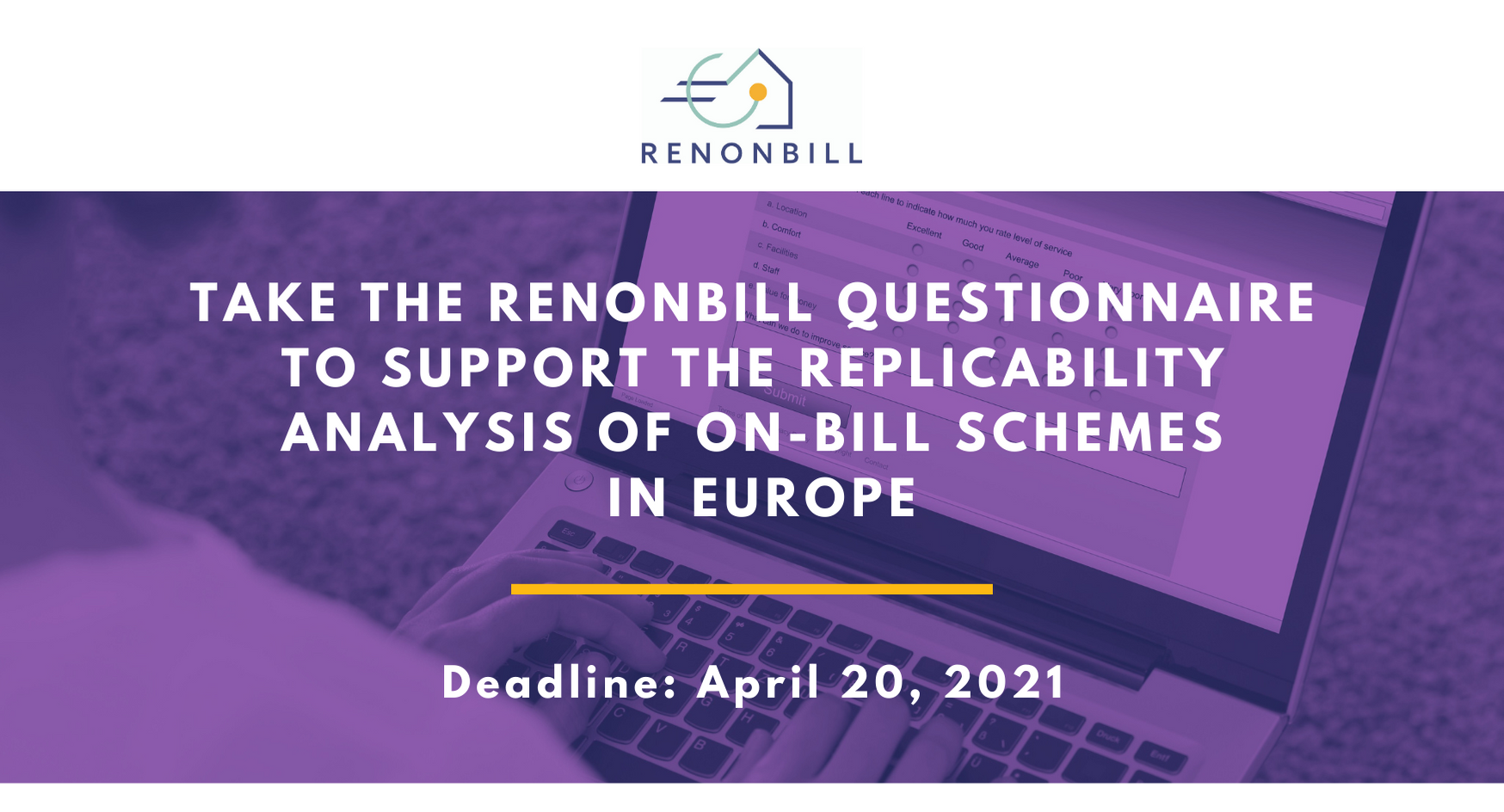 RenOnBill calls on energy utilities and financial institutions to fill in a questionnaire helping on-bill replicability in Europe