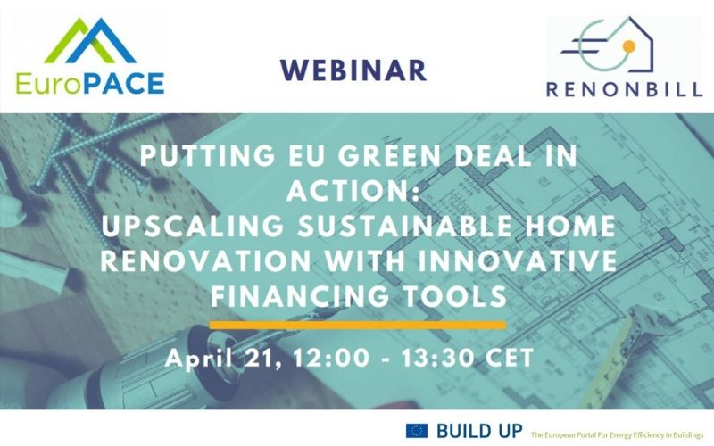 RenOnBill and EuroPACE team up for a webinar: Putting the EU Green Deal in Action