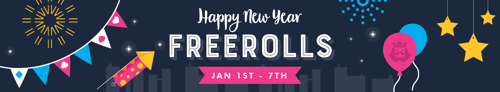 happy new year freerolls