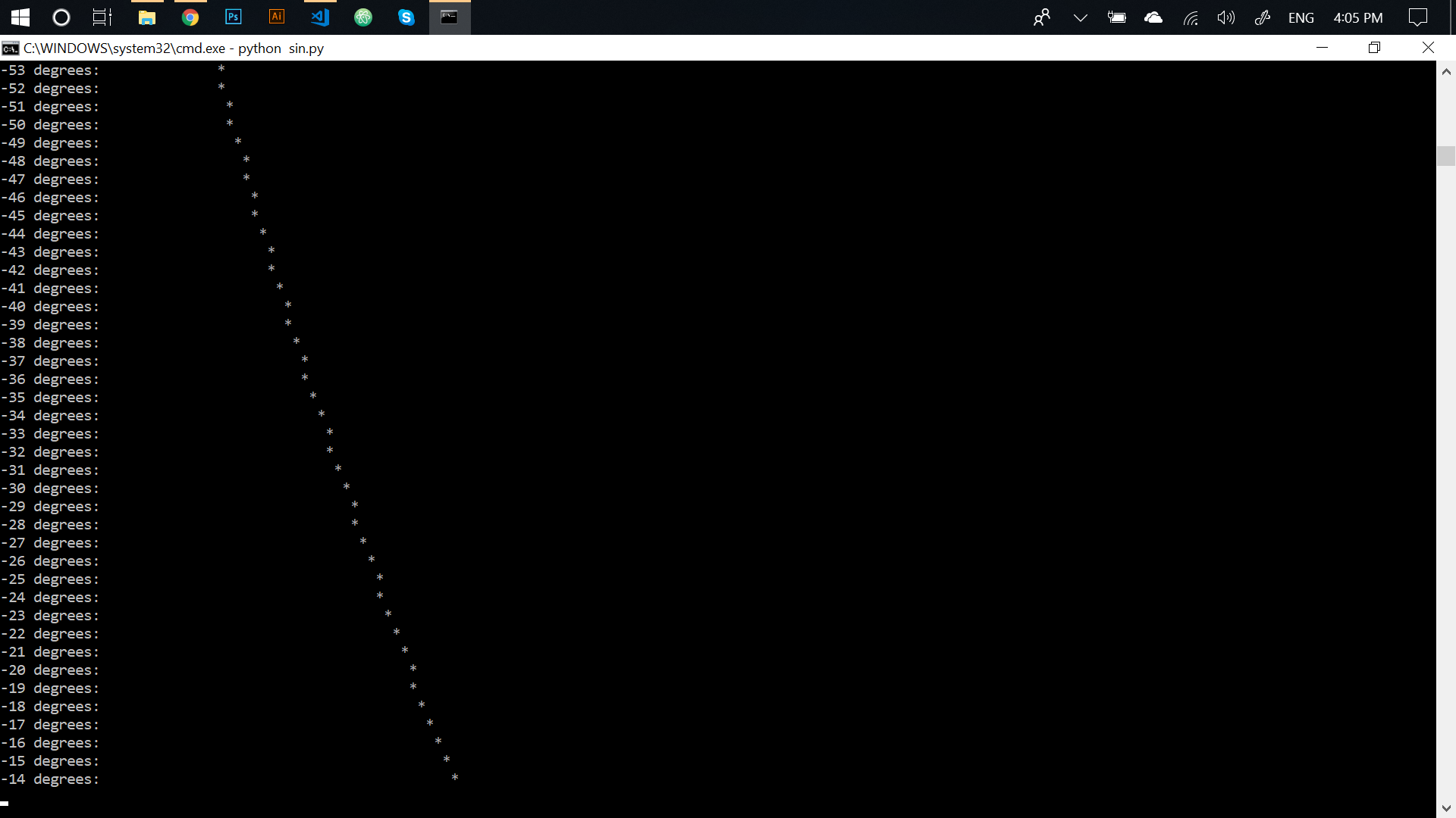 Repl it - Infinite Sine Wave in Python (really simple)