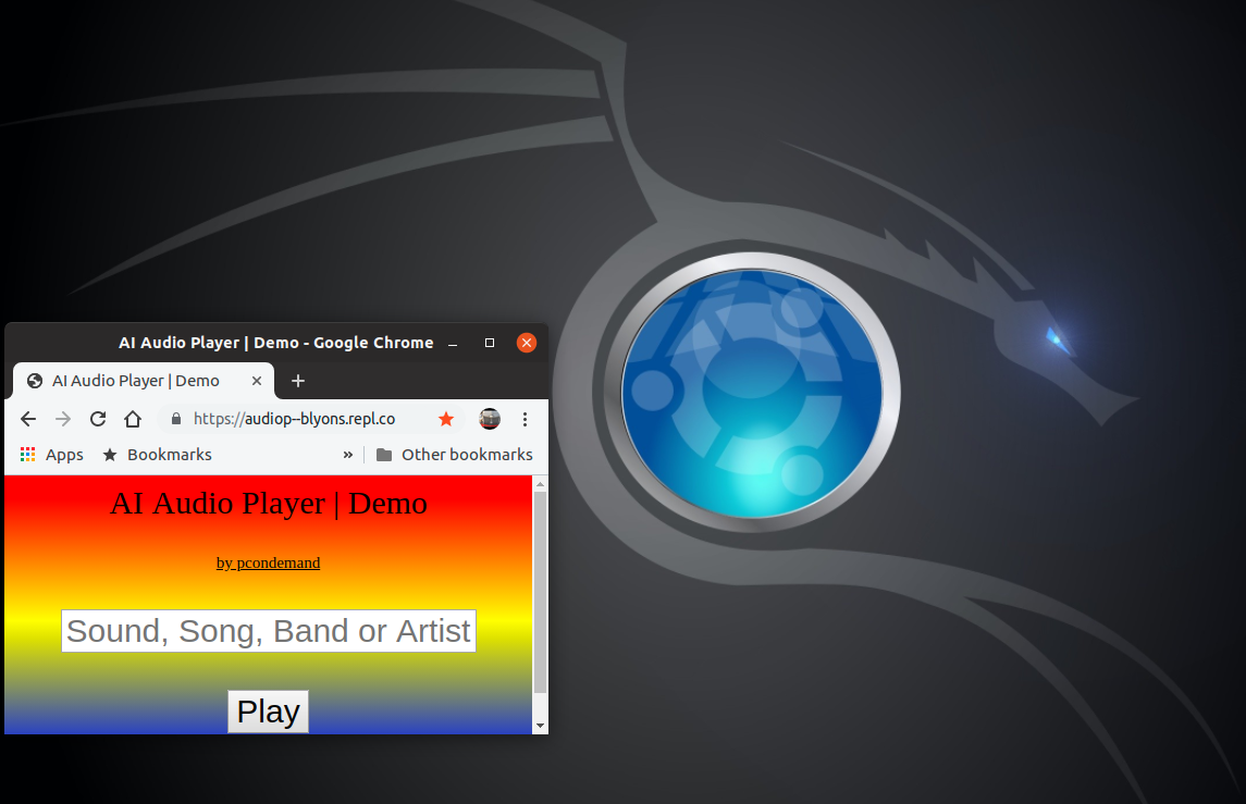 Repl it - Artificially Intelligent Audio Player
