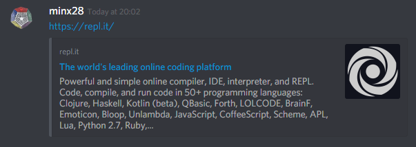 Repl it - Comment on How to Make a Discord Bot That Isn't a Bot