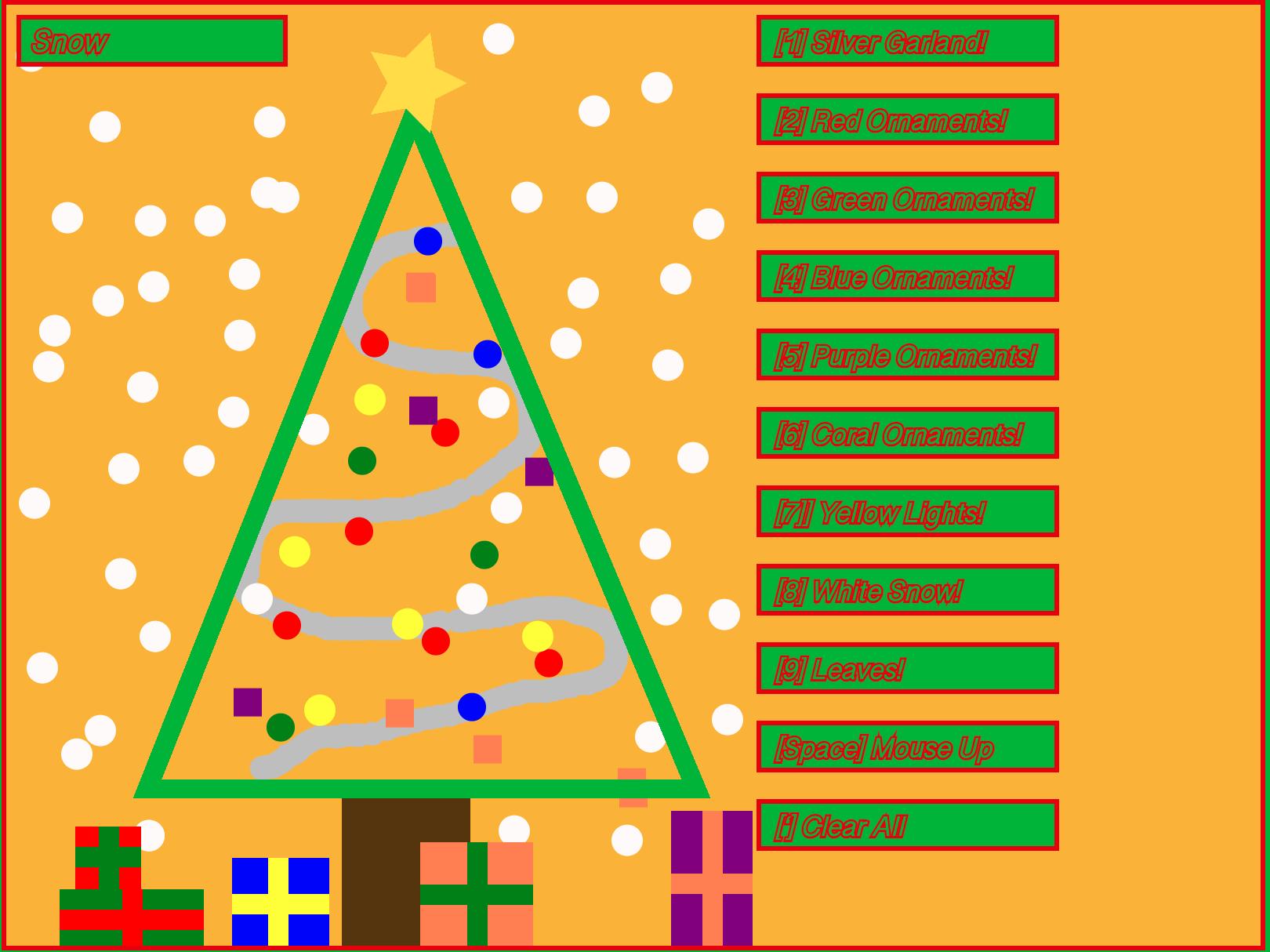 P5js Christmas Tree Decorator!
