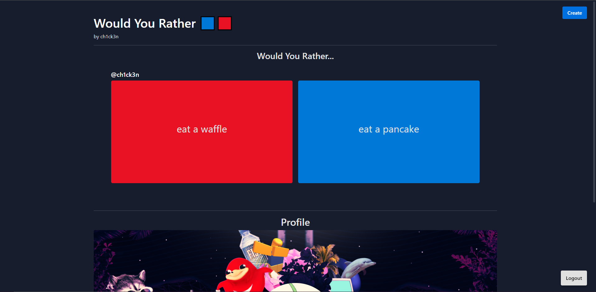 would you rather 🟦🟥