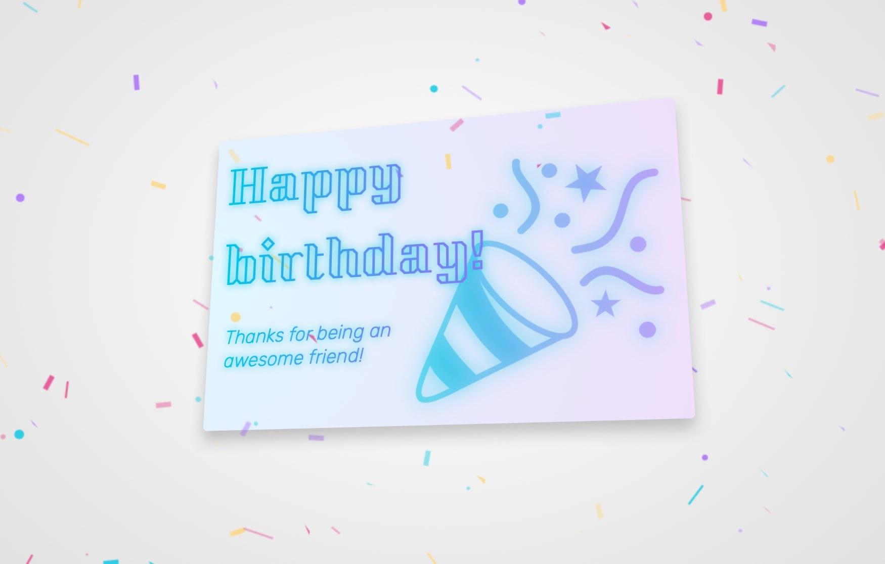 🎂 3D Birthday Card
