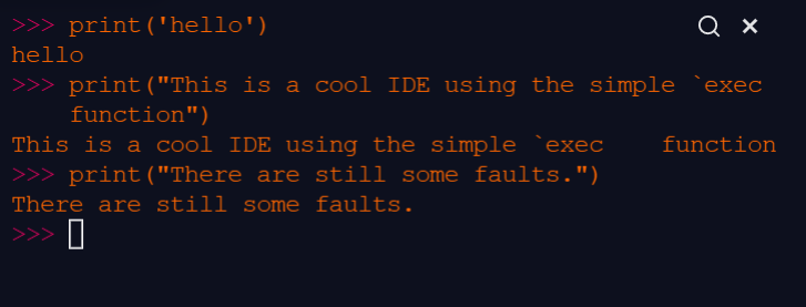 Simple Python IDE