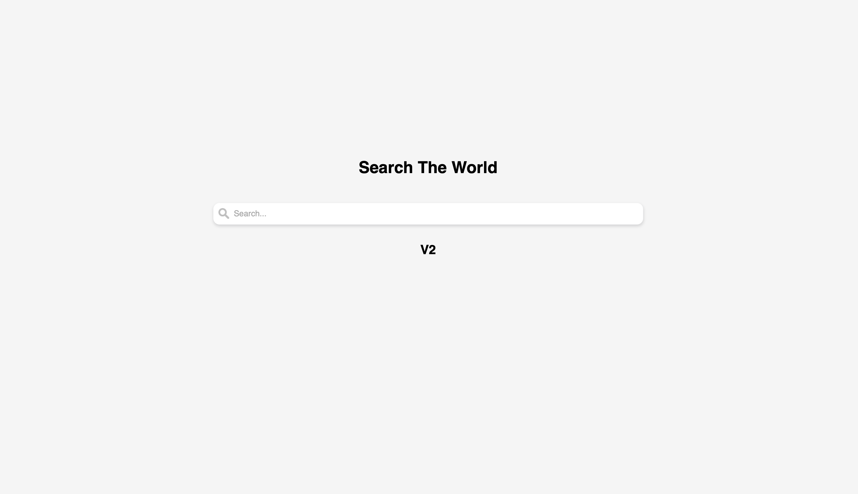 Search The World