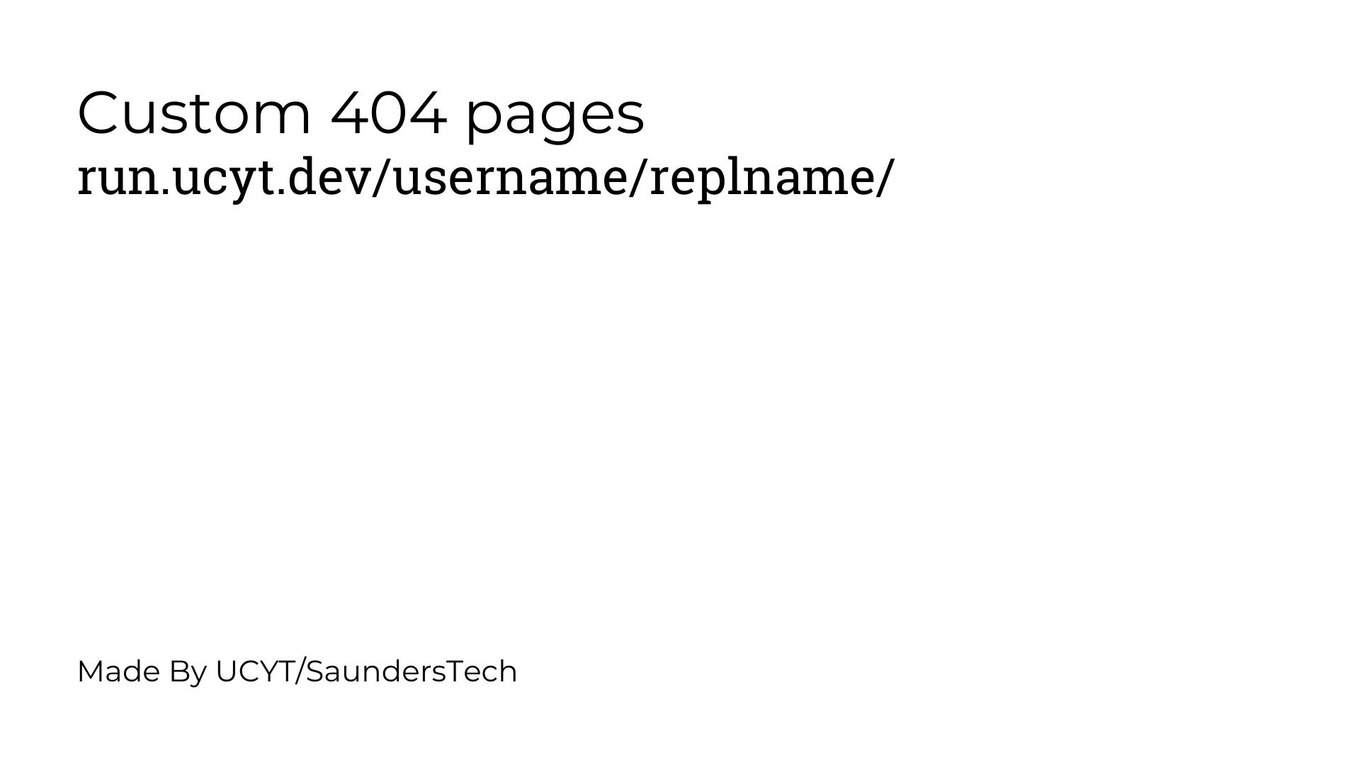 Custom 404 Page