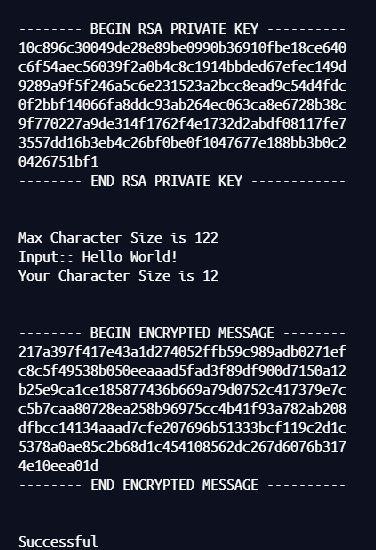 RSA 1024 Bit Encryption