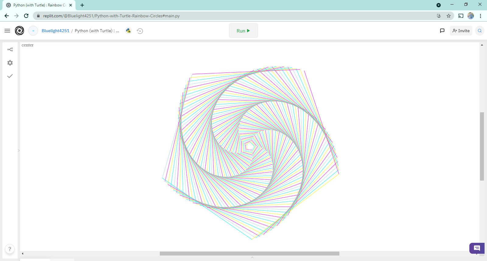 Python (with Turtle) :  Rainbow Circles
