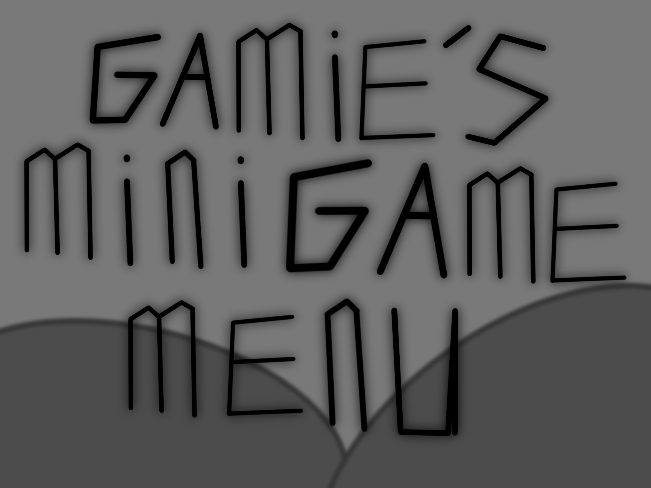 Gamie's Minigame Menu