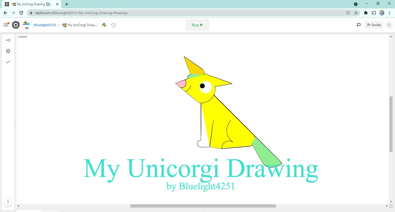-🐕 My UniCorgi Drawing 🦄-