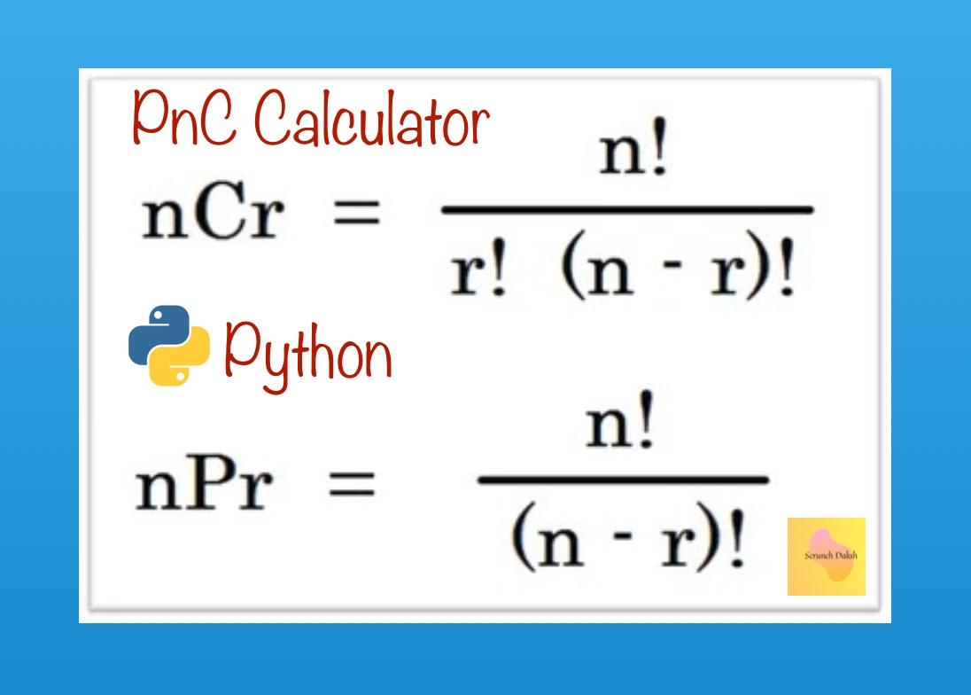 nCr and nPr Calculator