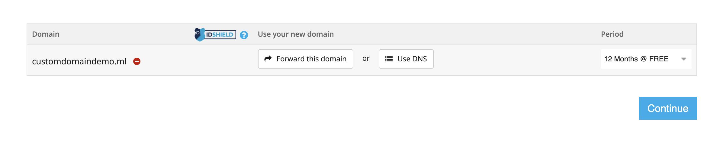 Freenom Domain Period