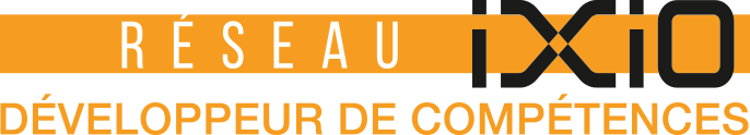 Logo Réseau IXIO - Emploi et formation professionnelle en Île-de-France, Hauts-de-France, Nouvelle-Aquitaine et Occitanie.