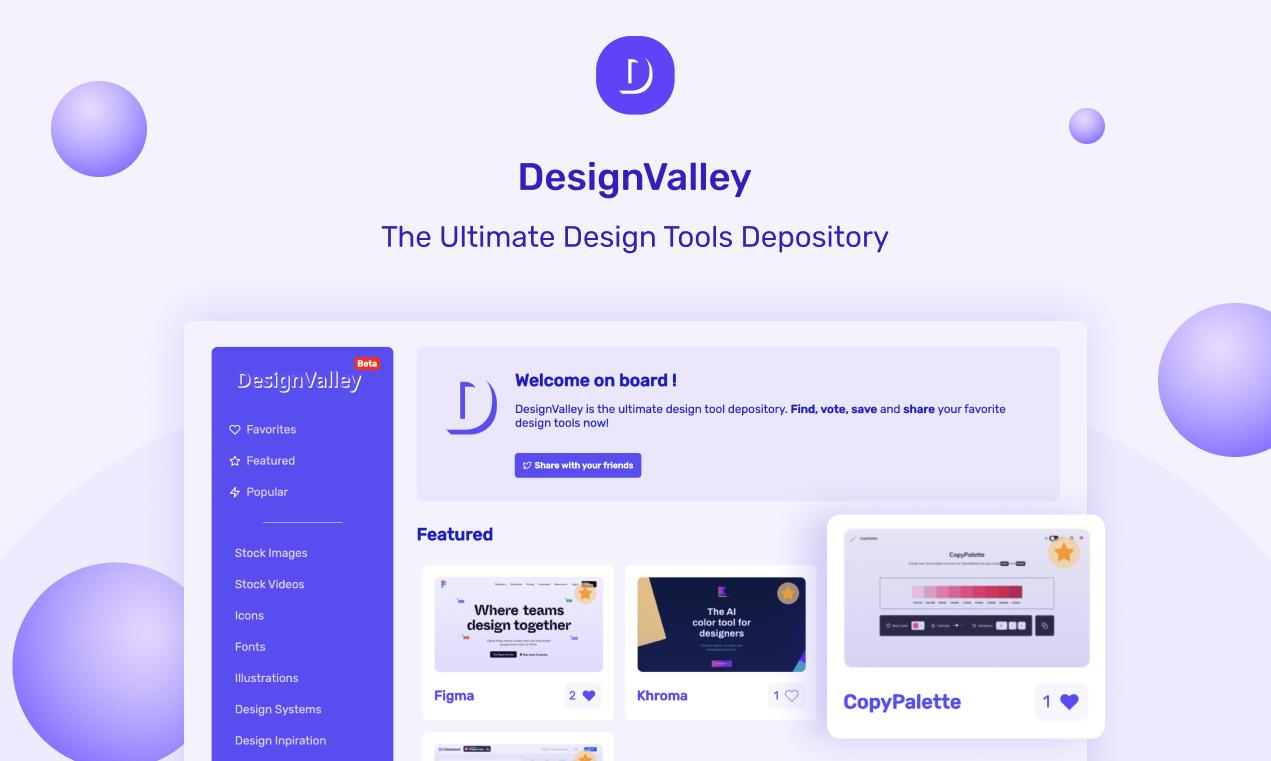 DesignValley | Ultimate design tools depository