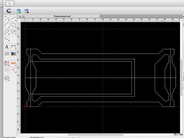 CADアプリ上の表示