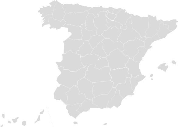 Image map of Spain
