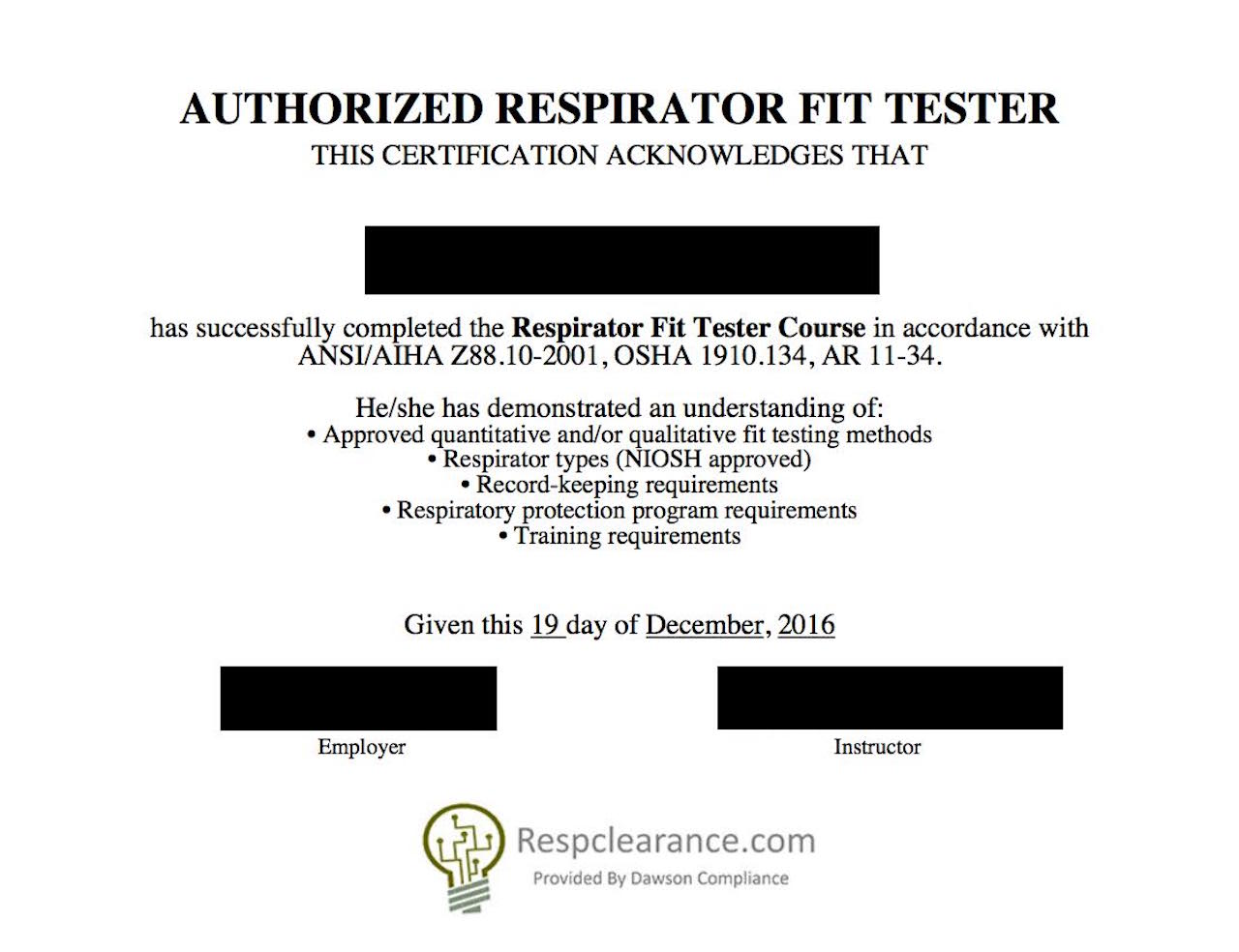 RespClearance com - Respirator Medical Evaluation and Fit