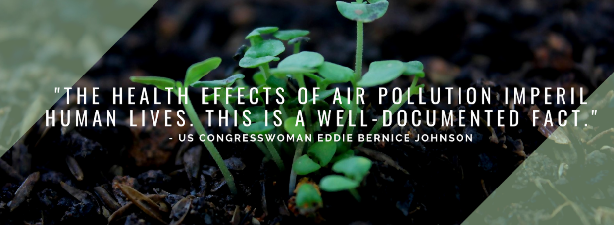 "Quote ""The health effects of air pollution imperil human lives. This is a well-documented fact."" (Eddie Bernice Johnson)"