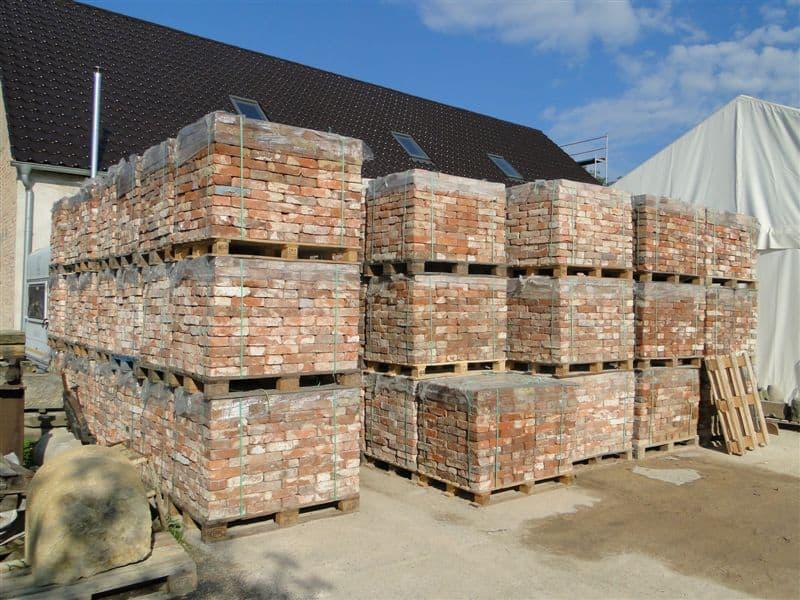 Alte Ziegelsteine Mauersteine Backstein 5500 Stück Klosterformat