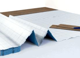 Trittschalldämmung, Vinyl-/ Designboden Unterlage, Dämmunterlage