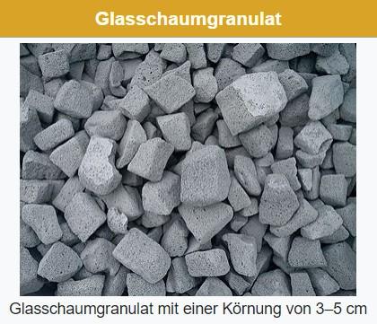 Glasschotter-ökologischer Dämmstoff für Haus und Terrasse