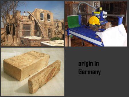 hell gelbe Ziegelriemchen Antikriemchen Steinriemchen alte Mauersteine Wandpanele mediterrane Wand-Gestaltung Wandfliese