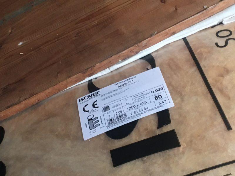 Trennwandplatte ISOVER Akustic TP 1 WLG 040 Stärke 80mm