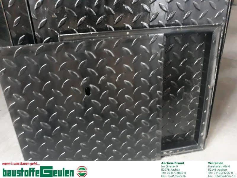 Riffelblech-Schachtabdeckung, schwarz, versch. Größen