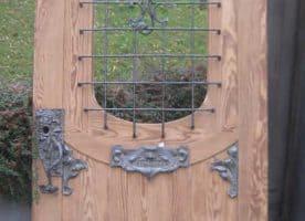 Jugendstil Haustür aus Pitch Pine Holz