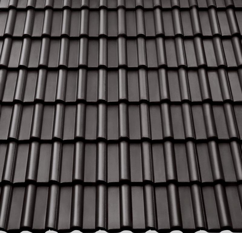 Dachsteine aus Beton in München: Braas Frankfurter Pfannen Protegon Farbe Seidenmatt Granit
